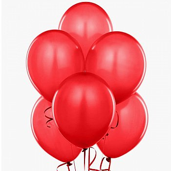 Latex Balloons Red 6 Pieces Pack