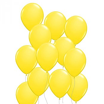 Latex Balloons Baby Yellow 10 Pieces Pack