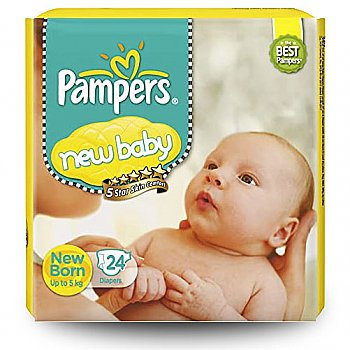 Pampers New Baby (Up to 5 kg) 24 Diapers Pack
