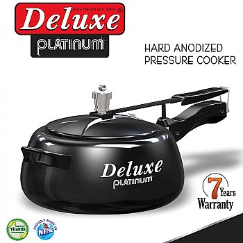 Deluxe Platinum Pressure Cooker 2 Ltr (Hard Anodized)