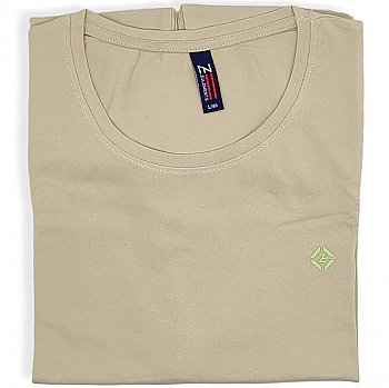 Cotton TShirt (M-L-XL) - Oat Green (Casual Round Neck)