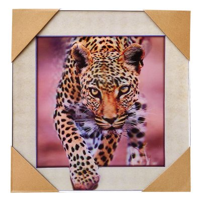 Wall Decor 3D Leopard Painting Print 16''