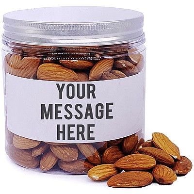 Almonds In Personalize Message Jar - 200gm
