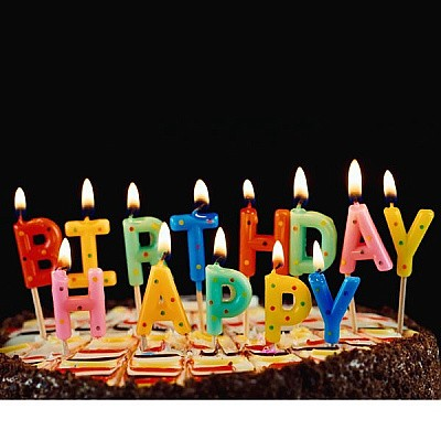 Awe Inspiring Happy Birthday Candles Online Giftmandu Gifts To Nepal Personalised Birthday Cards Veneteletsinfo