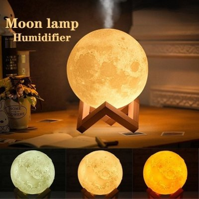 3d Moon Lamp Humidifier 880ml Online Giftmandu Gifts To Nepal