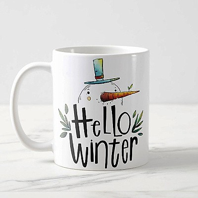 ''Hello Winter'' Printed Coffee Mug (02)