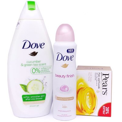 Dove Shower Gel & Body Spray With Pears Soap