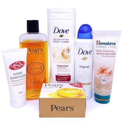 Pears Body Wash With Soap Lotion, Face Wash, Body Spray & Sanitizer