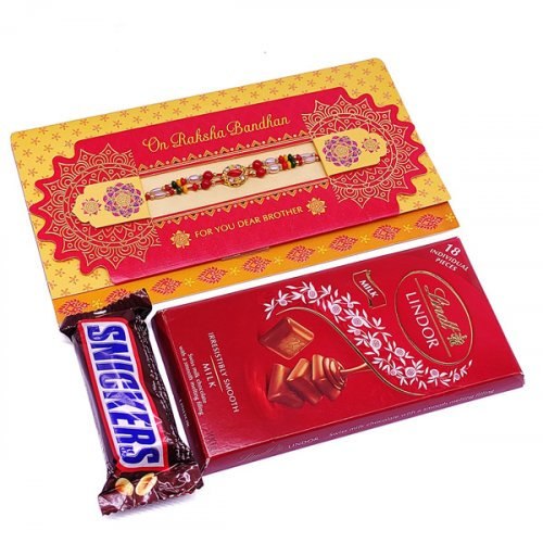 Lindt Lindor, Snickers With Rakhi Combo