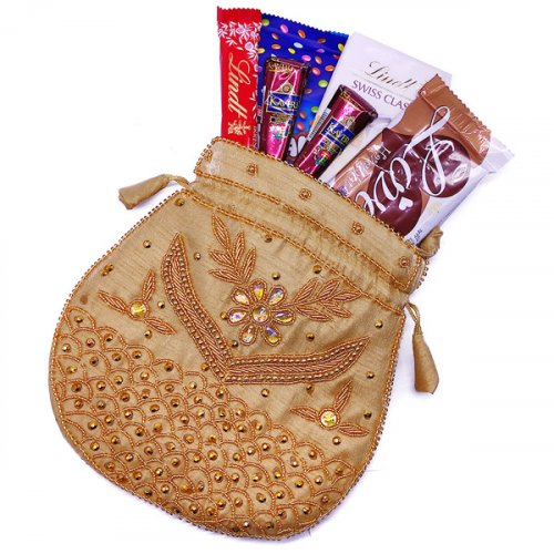 Chocolates Bag With Mehendi for Her