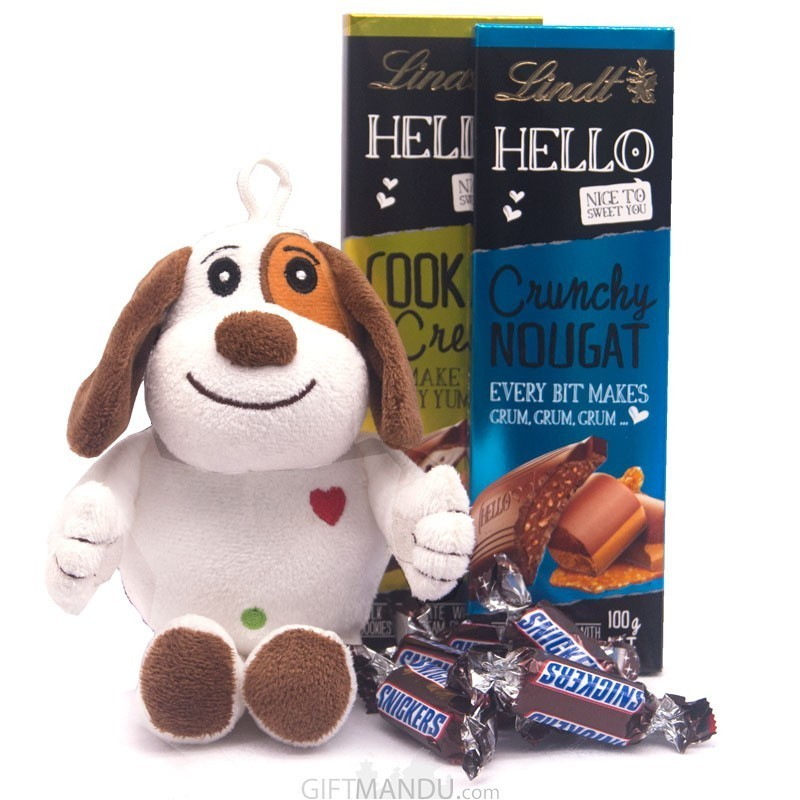 Twin Chocolate Bar With Cute Puppy