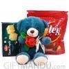 Chocofun Smiley Wafer with Soan Papdi & Cute Rose Teddy