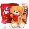 Mini Teddy Bear with Chocofun Smiley Wafer & Pringles