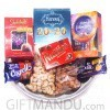 Dry Nuts and Chocolates Tray (8 Items)