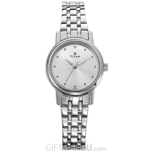 Titan Karishma Revive Silver Dial Analog Watch for Women - (2593SM01)