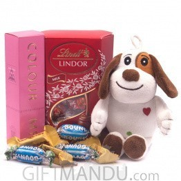 Puppy Toy, Perfume & Chocolate For Her