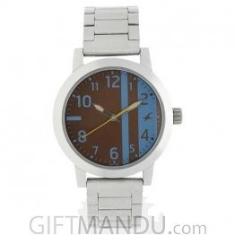 Fastrack Brown Dial Analog Watch for Men (3162SM02)