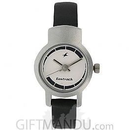Fastrack White Dial Analog Watch for Women (2298SL04)Fastrack White Dial Analog Watch for Women (2298SL04)