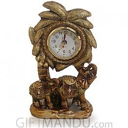 Beautiful Antique Elephant Clock (7.4 Inch)