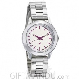 Fastrack Fundamentals Analog White Dial Watch For Women