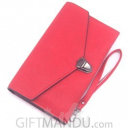 Beautiful Soft Ladies Hand Bag - Red