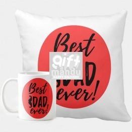Best Dad Ever Printed Cushion & Mug