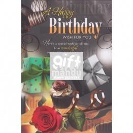 A Happy Birthday - Greeting Card