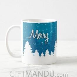 Merry Christmas Printed Coffee Mug