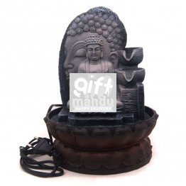 Sitting Buddha Tabletop Water Fountain- 11''