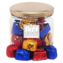 Glass Candy Jar With Assorted Chocolates