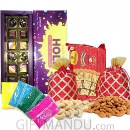 Holi Special Chocolate, Mithai & Colors Pack