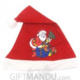 Santa Claus Printed Christmas Cap