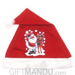 Santa Claus Design Christmas Cap