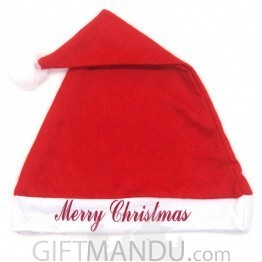 """Merry Christmas"" Printed Santa Cap (19 Inch)"