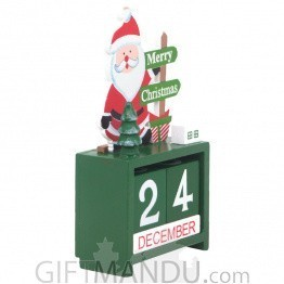 Mini Perpetual Santa Design Table Calendar For Christmas Decorations