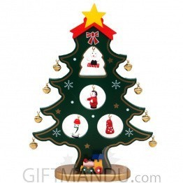 Decorative Wooden Mini Christmas Tree Showpiece