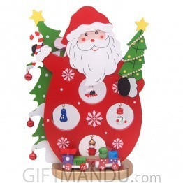 Wooden Santa Claus Showpiece with Christmas Decoration