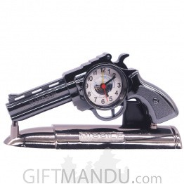 Missile Handgun Fashionable Clock