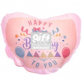 Heart Shaped Birthday Cushion (Pink)