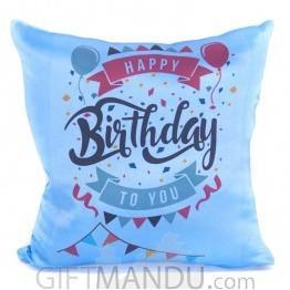 Happy Birthday Wishes Printed Cushion