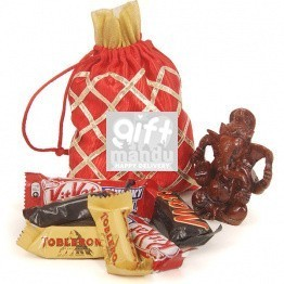 Miniature Chocolate Package With Lord Ganesh Statue (18 chocolate) - Send Gifts TO Nepal