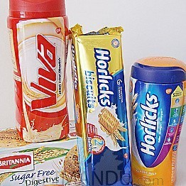 Horlicks and Viva Package with Biscuits (4 Items) - Send gifts to Nepal