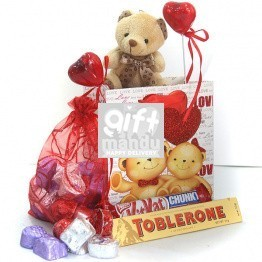 Sweet Love - Mini Teddy Chocolates Bag - Send gifts to Nepal