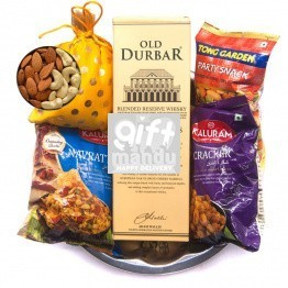 Festival Special Snacks Tray with Old Durbar Whiskey