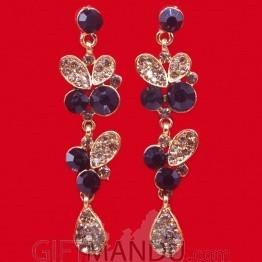 Black Stone Stud Fashion Drop Earring