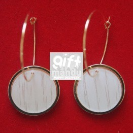 Monogram Blank Flat Circle Blank Drop Earring