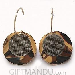 Plate Round Hoop Earring