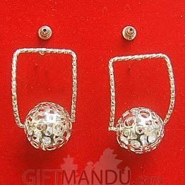 Classic Ball Earring With Golden Color