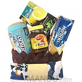 Lite Horlicks, Horlicks Biscuit, Dilmah Tea and Honey with Free Summer Scarf Basket - (5 items)