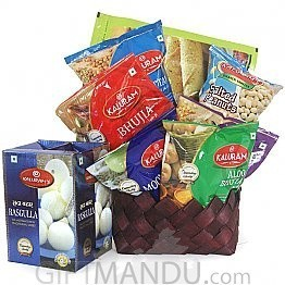 Sweet and Salty Combo Basket - Sweets and Namkeens (8 Items)